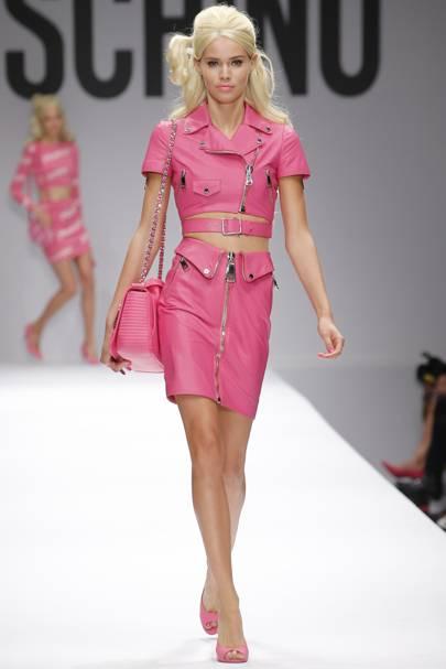 Moschino fashion show barbie dress