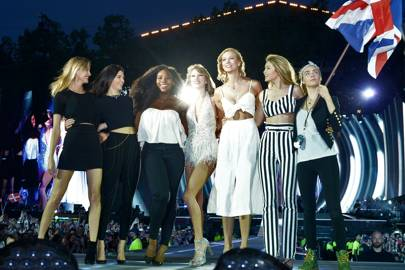 Martha Hunt, Kendall Jenner, Serena Williams, Karlie Kloss, Gigi Hadid and Cara Delevingne - London