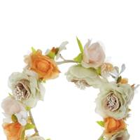 White floral headband, £20