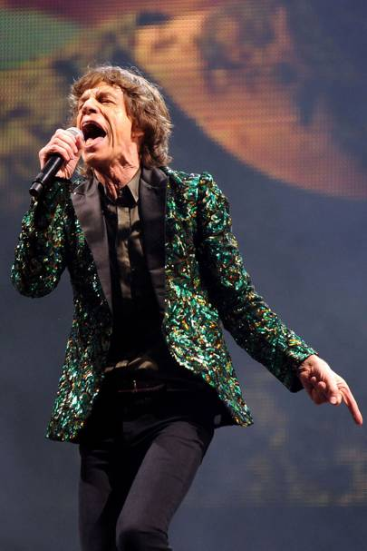Jagger's oak leaf jacket, worn at Glastonbury