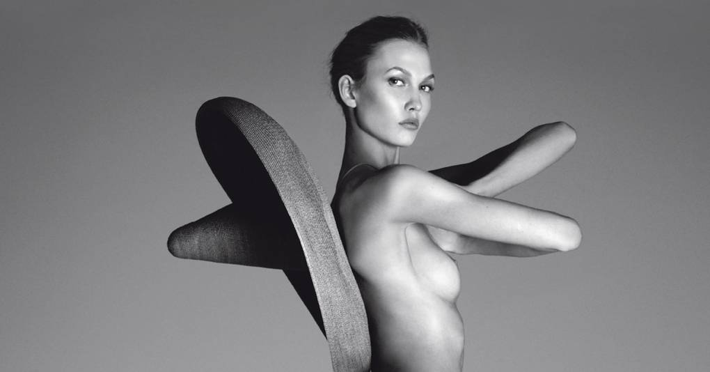 Karlie kloss vogue italia nude