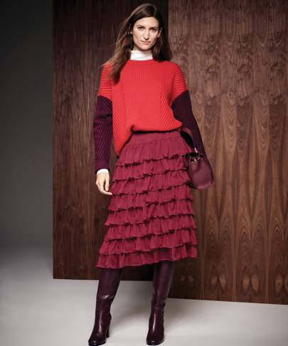 272c1946c1ee M&S Collection Jumper £35, M&S Collection Polo Neck £17.50, Limited Edition  Skirt £39.50, Bag £79, Boots £125