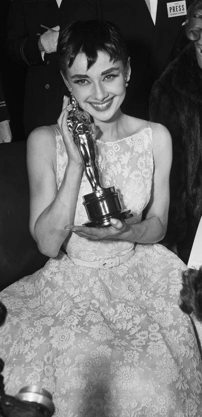 Audrey Hepburn at the Academy Awards, 1954
