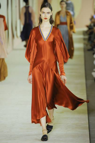 Image result for satin fabric for london fashion week 2018