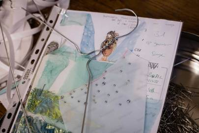 Sketches, swatches and samples - Christian Lacroix's notebook for [i]A Midsummer Night's Dream[/i]