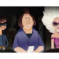 Bryan Boy, International Herald Tribune editor Suzy Menkes and Lady Gaga