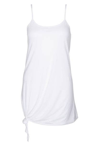 White knotted cotton vest, £22
