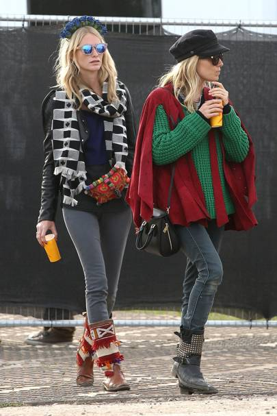 Poppy Delevingne and Sienna Miller