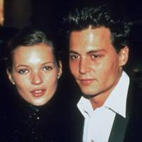 Kate Moss with Johnny Depp