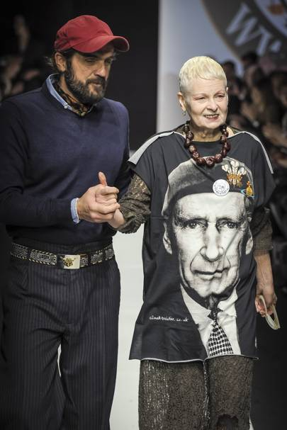 Westwood's choice of T-shirt