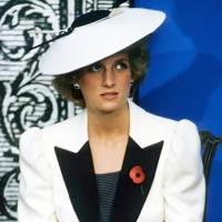 Diana, Princess of Wales, wearing a Frederick Fox hat, November 1985