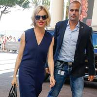 A navy jumpsuit for the Cannes Film Festival, May 12 2015