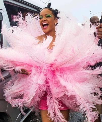 Rihanna's internet-breaking Crop Over Festival look