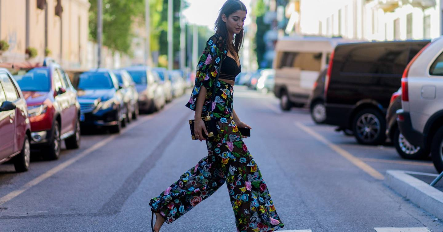 How The Street-Style Gang Wears Flares