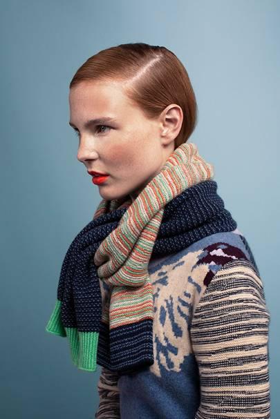 Cashmere colour block scarf, £275