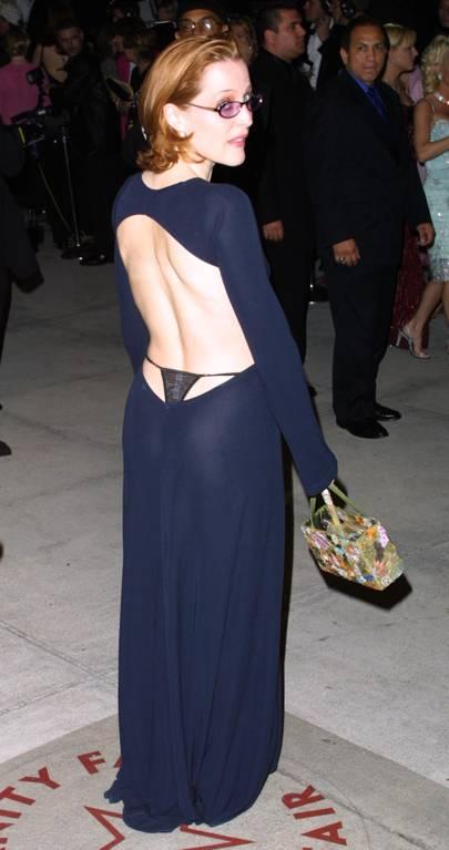 Gillian Anderson Sees Her 2001 Self In Hailey Bieber's Met Gala Dress