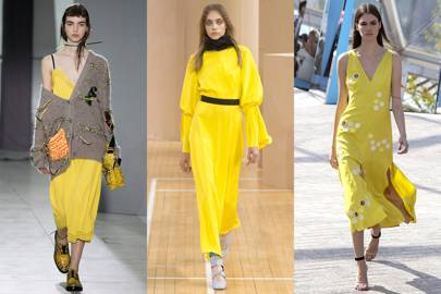 The new-season colour: Primrose yellow