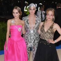 Lily-Rose Depp, Cara Delevingne and Jemima Kirke