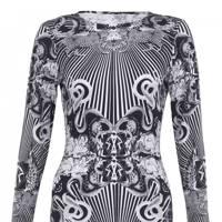 Mono print dress, £40