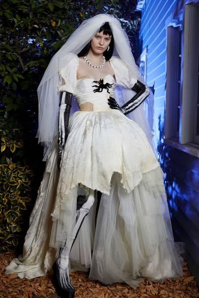Jeremy Scott made a killer proposal for the bridal season