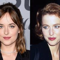 Dakota Johnson and Gillian Anderson