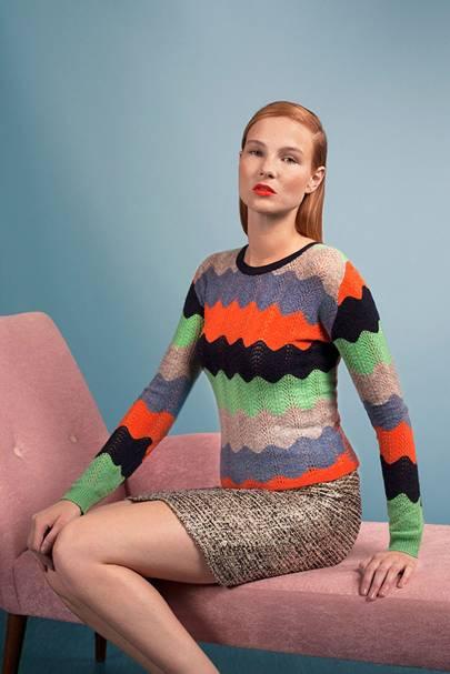 Cashmere wave knit jumper, £350