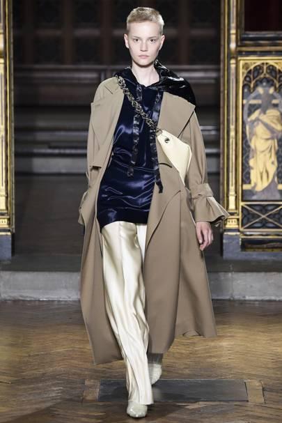 Wednesday: Go sleek with silk trousers