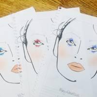 Three different mascara looks at Mary Katrantzou