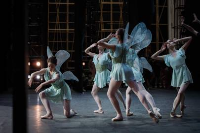 Fairies with Swarovski-crystal embellished wings, which created firefly-like effects in Lacroix's design for [i]A Midsummer Night's Dream[/i]
