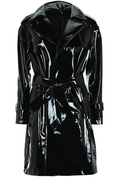 Black patent trench coat, £300
