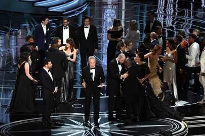 Moonlight winning the Oscars