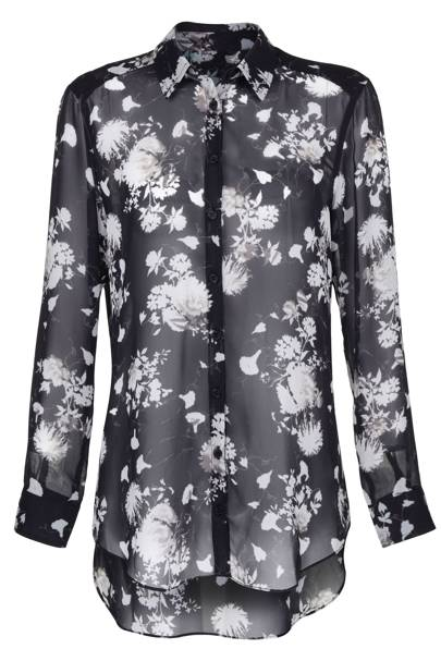 Floral print chiffon shirt, £45
