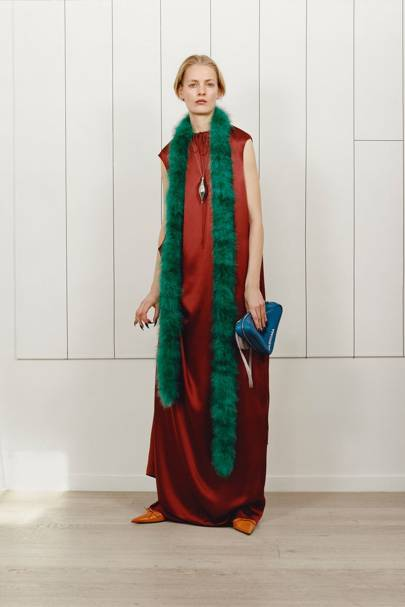 It pays to wear a skinny stole indoors