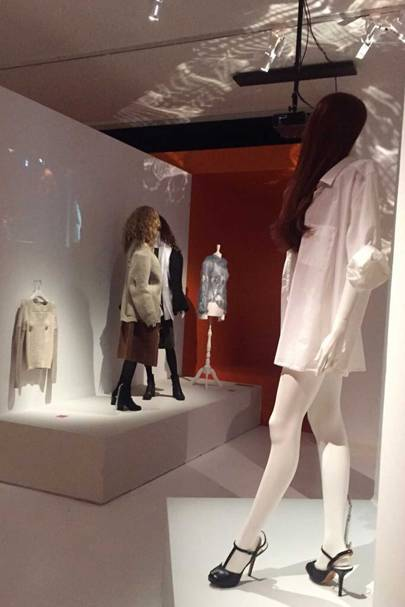 Displays at the new Martin Margiela exhibition at MoMu in Antwerp