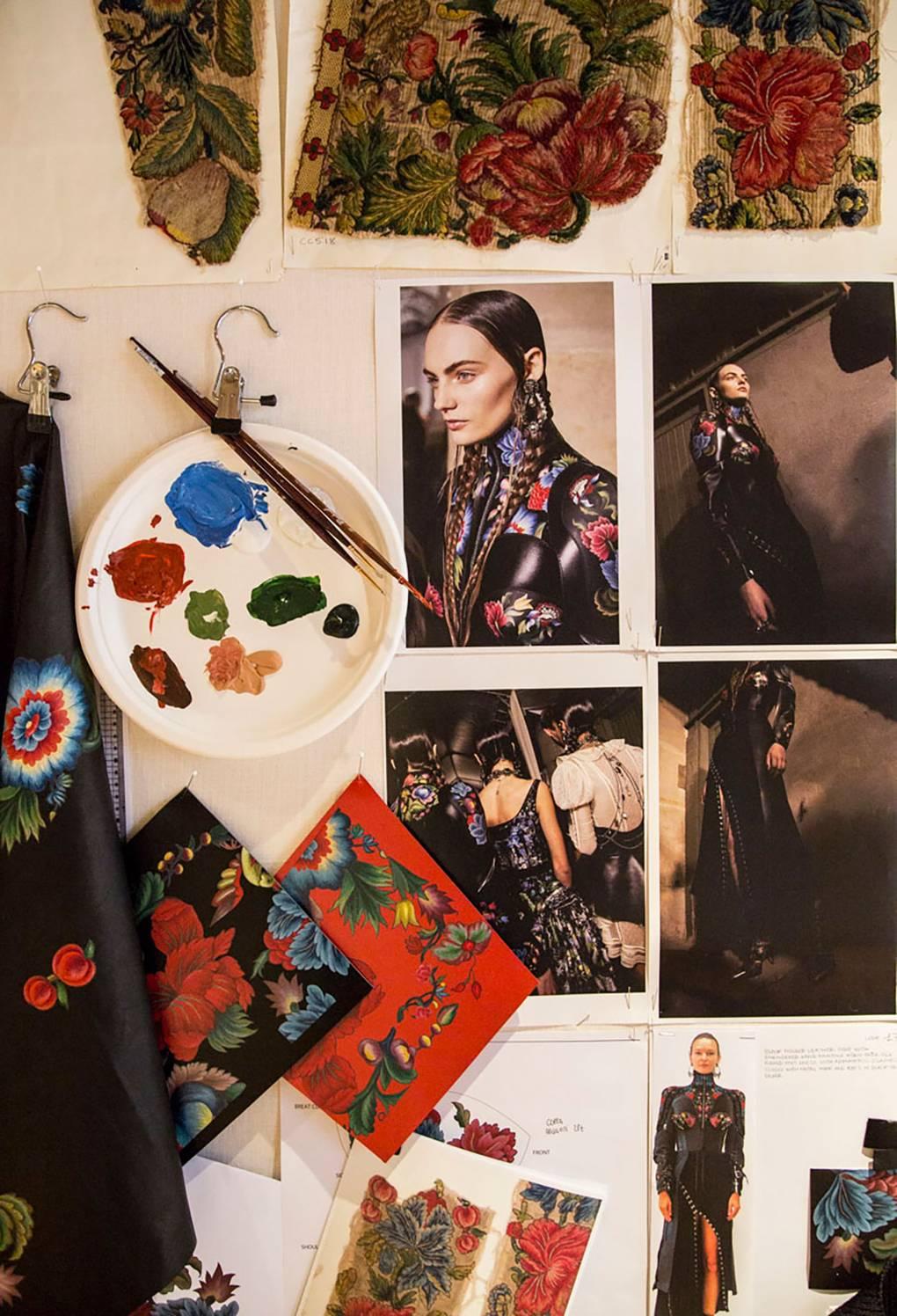Detail of Alexander McQueen exhibit. Image Alexander McQueen via Vogue.