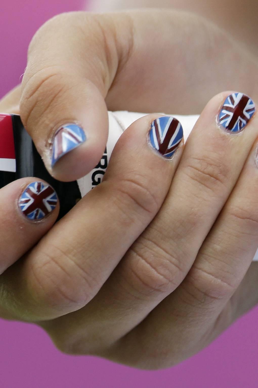 Patriotic Nails - London 2012 Olympic Games Nail Art | British Vogue