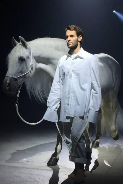Jacquemus's White Horse Moment