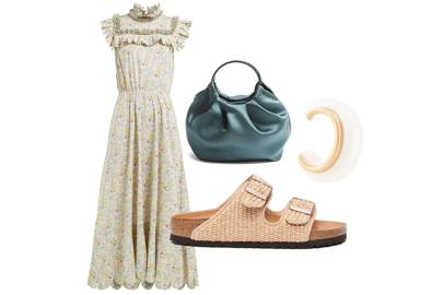 2. Toughen up floral dresses with chunky sandals