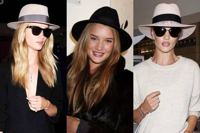 Rosie Huntington-Whiteley's fedoras
