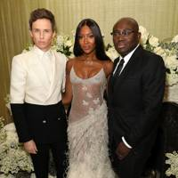 Eddie Redmayne, Naomi Campbell and Edward Enninful