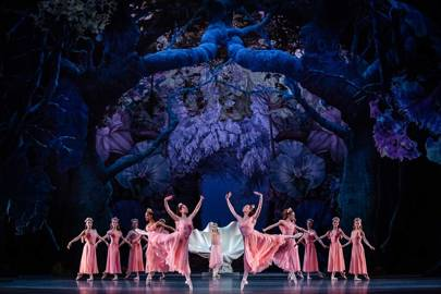 Christian Lacroix's costumes for the corps de ballet in the current production of Balanchine's A Midsummer Night's Dream at the Paris Opéra