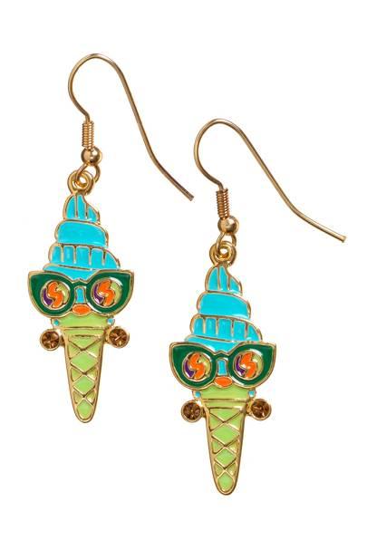 Mrs Quiffy earrings, £25
