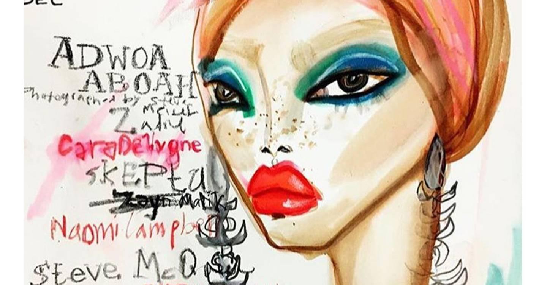 Fashion Illustration British Vogue