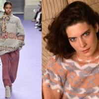 Donna Hayward's alpine sweater