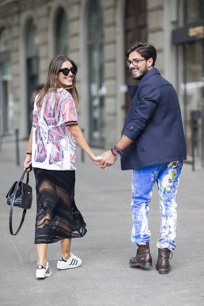 Patricia Mansfield and Giotto Calendoli, bloggers and models