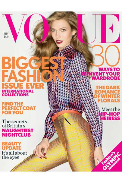 Vogue cover, September 2012