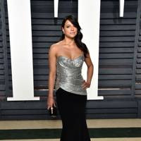 Michelle Rodriguez in Christian Siriano