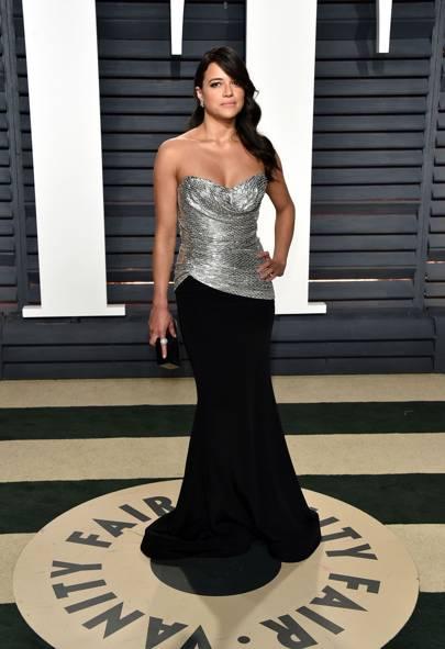 Michelle Rodriguez in Christian Siriano