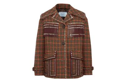 Prada's studded tweed jacket