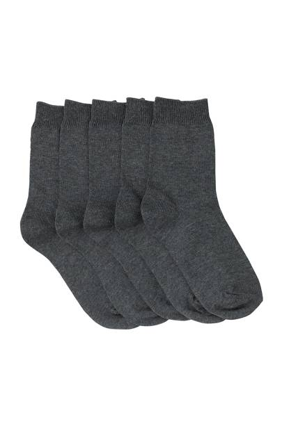 John Lewis School Department Grey Ankle Socks